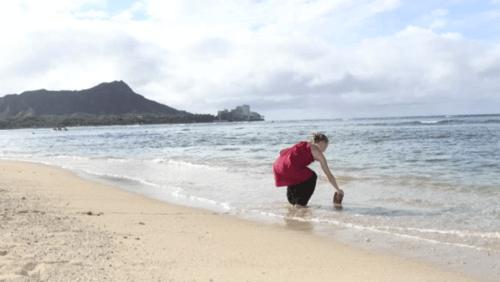 バウリニューアルは神聖なハワイの海の水を使う