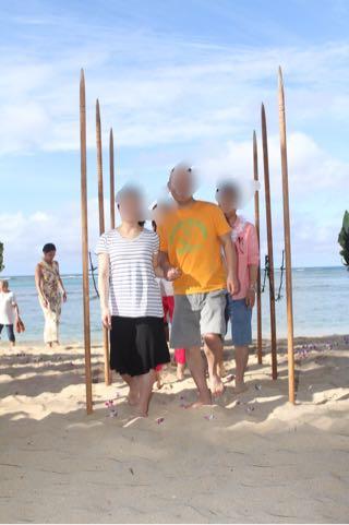 ハワイアウトリガーのバウリニューアルの一場面