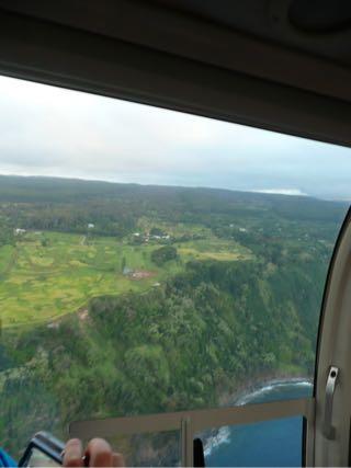 ハワイ島の上空から